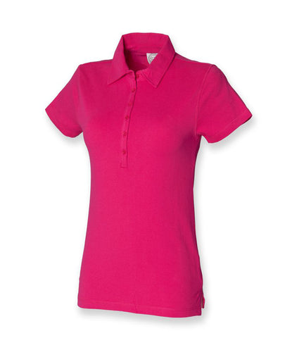 SF Ladies Stretch Piqué Polo Shirt - T Shirt Printing UK