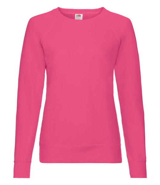 Fruit of the Loom Lady Fit Lightweight Raglan Sweatshirt - T Shirt Printing UK