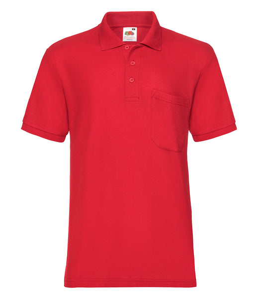 Fruit of the Loom Pocket Piqué Polo Shirt - T Shirt Printing UK