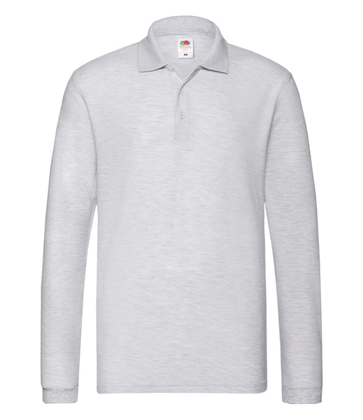 Fruit of the Loom Premium Long Sleeve Cotton Piqué Polo Shirt
