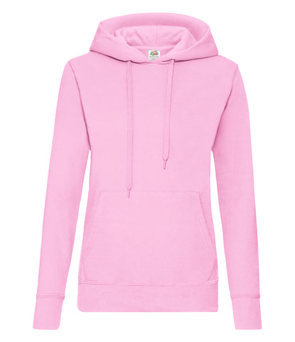 Fruit of the Loom Classic Lady Fit Hooded Sweatshirt - T Shirt Printing UK