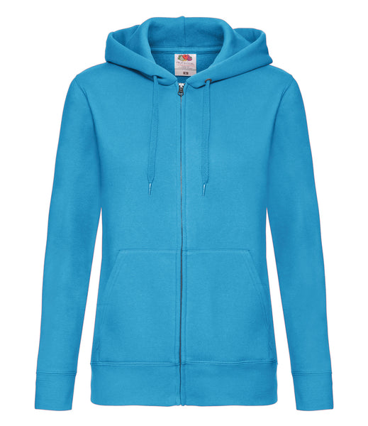 Fruit of the Loom Premium Lady Fit Zip Hooded Jacket - T Shirt Printing UK