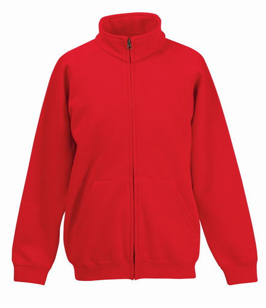 Fruit of the Loom Kids Classic Sweat Jacket - T Shirt Printing UK