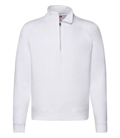 Fruit of the Loom Premium Zip Neck Sweatshirt - T Shirt Printing UK