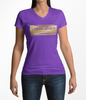 Liquid Spirit V Neck T Shirt - Womens - Gold