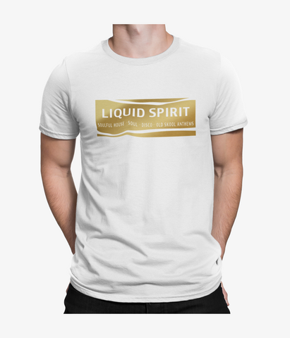 Liquid Spirit T Shirt - Mens - Gold