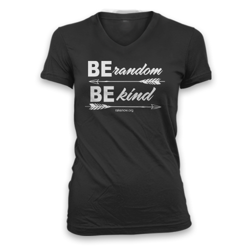 Ladies Be Random Be Kind Arrows Slim Fit V-Neck