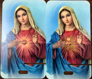Sacred Heart of Mary - Metallic