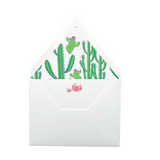 Cactus Card Set with lined envelopes