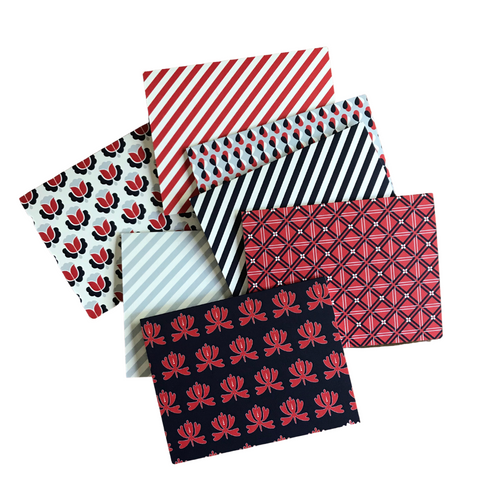 Folded Notecard Bundle // red, white & blue