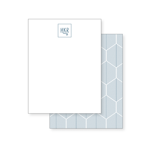 4.25x5.5 Notecard // hexagonal leaf