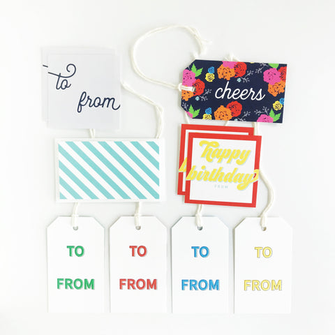 Gift Tag + Sticker Bundle (10 total!)