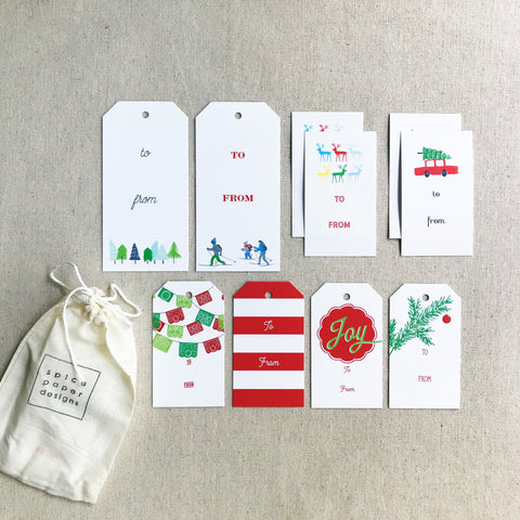 Holiday Gift Tag + Sticker Bundle