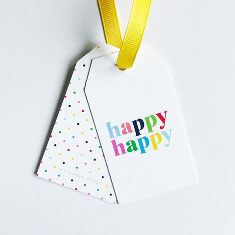 Happy Happy Hang Tag Set