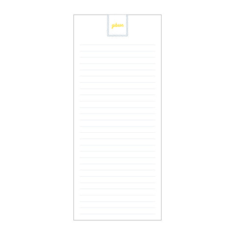 Slim Notepad | block monogram