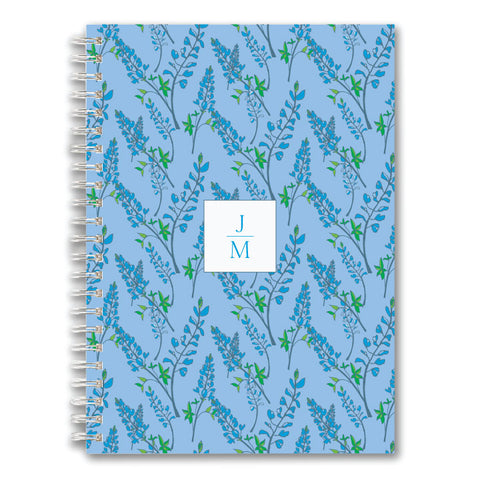 Custom Spiral Notebook // bluebonnet (two sizes)