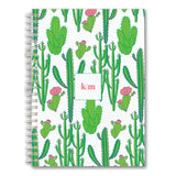 Custom Spiral Notebook // cactus(two sizes)