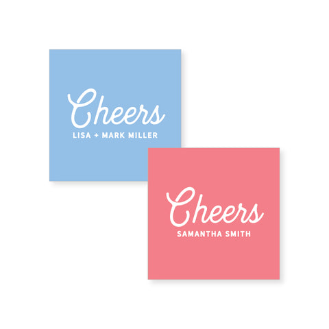 Cheers Stickers // 20 color options