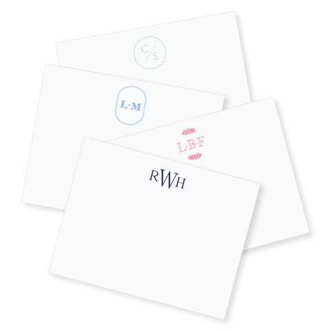 4.25x5.5 Monogram Notecard // DIY