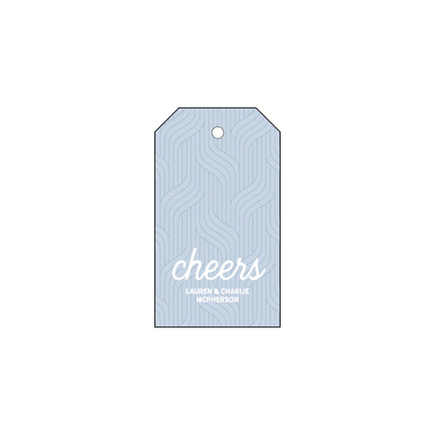 """Cheers"" Hang Tag with String 
