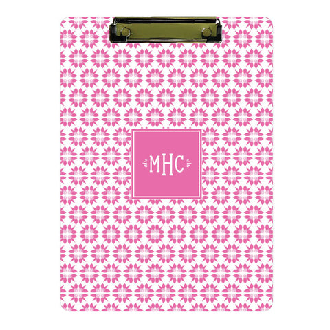 Personalized Clipboard // pink floral