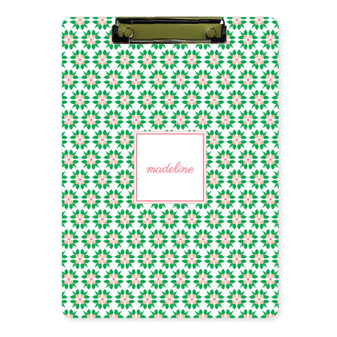 Personalized Clipboard // salmon floral