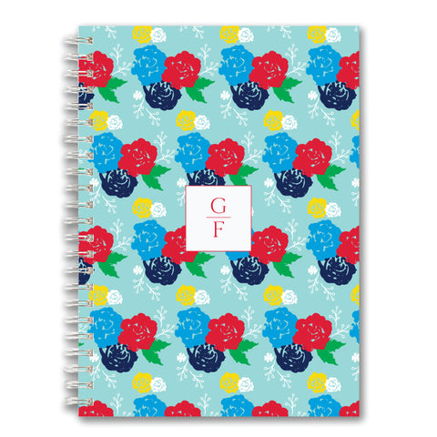 Custom Spiral Notebook // floral (two sizes)