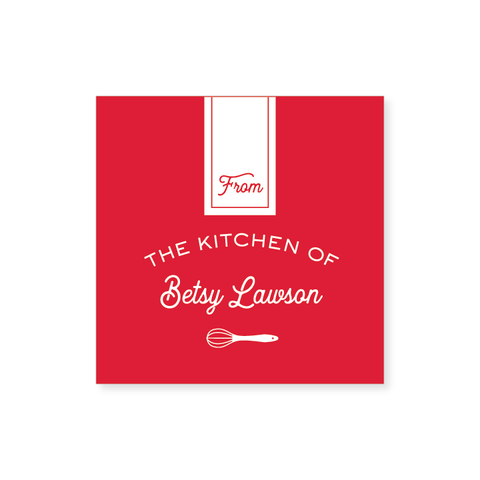 """From the Kitchen of"" Sticker // 20 color options"