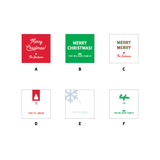 Holiday Gift Tag Stickers // 6 design options