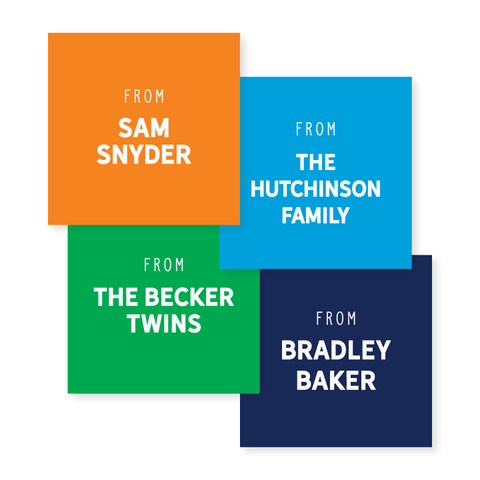 Gift Stickers in Block // 20 color options