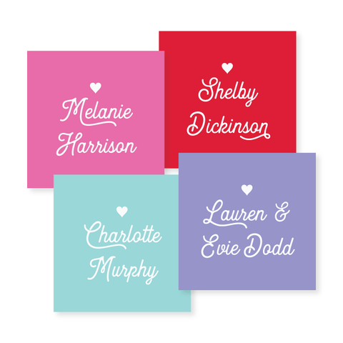 Gift Stickers in Script // 20 color options