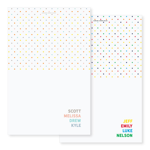 Folded Polka Dot Notecards // 4.25x5.5""