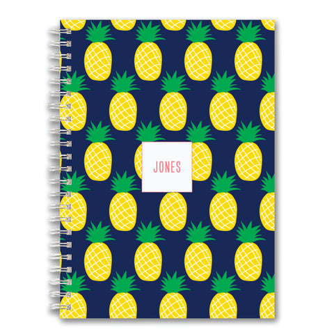 Custom Spiral Notebook // pineapple (two sizes)