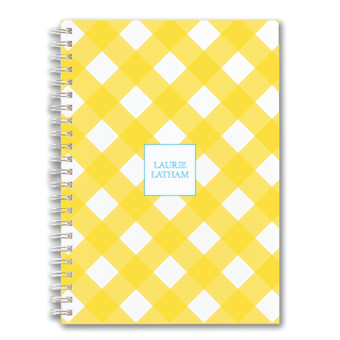 Custom Spiral Notebook // DIY plaid (two sizes)