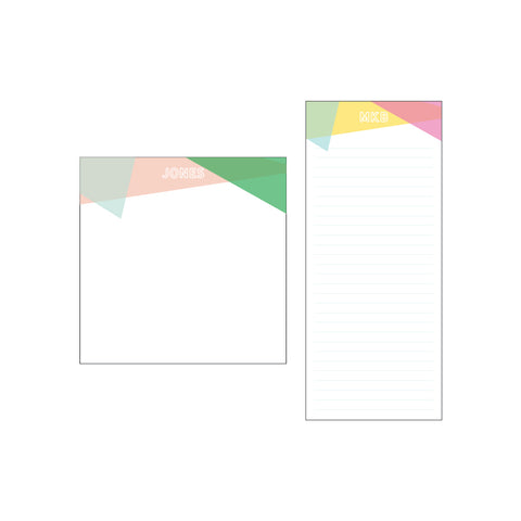 Square or Skinny Notepad | Prism {4 color variations}