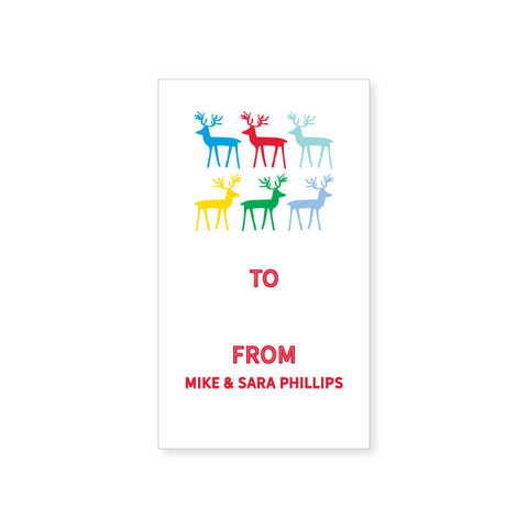 Holiday Gift Sticker | reindeer