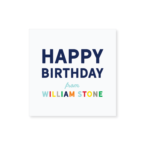 Square Birthday Gift Tag Sticker