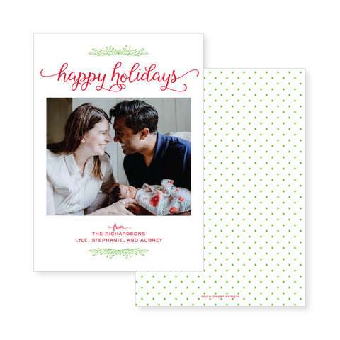 Simple Holly // holiday card