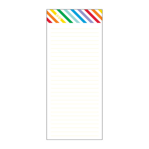 Slim Notepad | rainbow stripes