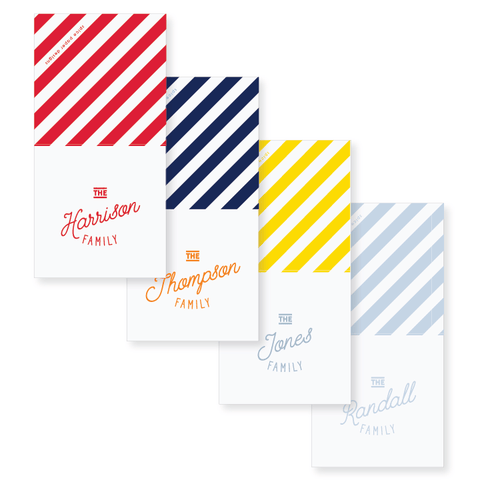 "2.75"" Square Folded Enclosure Card + Envelope // stripes"