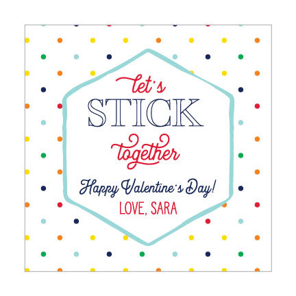 Valentine Sticker // stick together