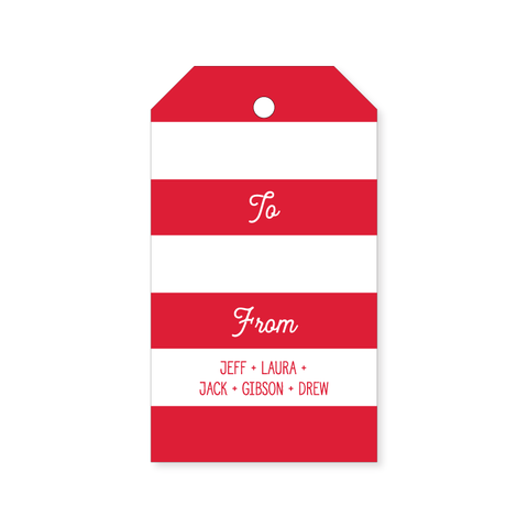 Christmas Gift Tag | stripes