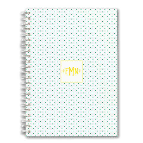 Custom Spiral Notebook // DIY swiss dots (two sizes)