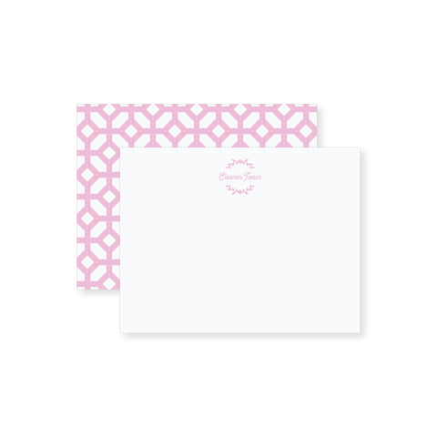 Girly Wreath Notecard // two sizes