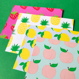 Peach Notecards // two sizes