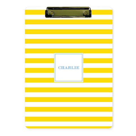 Personalized Clipboard // wide stripe (20 color options)