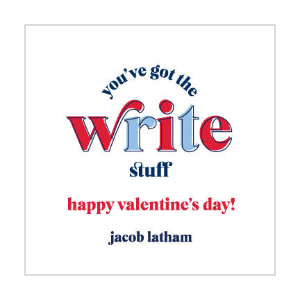 Valentine Sticker // write stuff