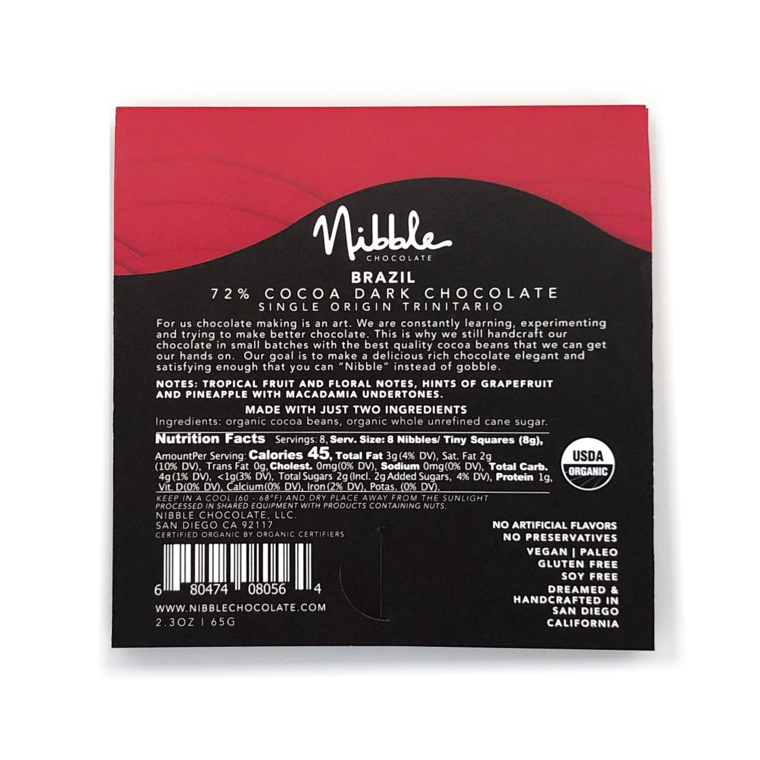 72% Cocoa <br> Single Origin Bars - Nibble Chocolate