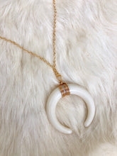 Load image into Gallery viewer, Crescent Moon Gold Necklace