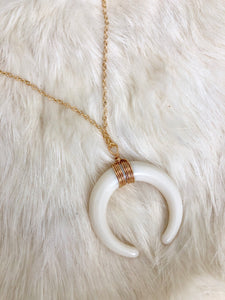 Crescent Moon Gold Necklace
